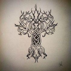 30 Best Yggdrasil Tattoo Images Yggdrasil Tattoo Drawings Life