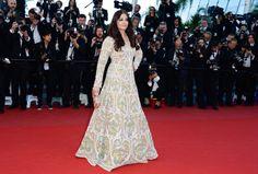 Fabulously Spotted: Aishwarya Rai In Abu Jani Sandeep Khosla Couture - 'Blood Ties' 2013 Cannes Film Festival Premiere - http://www.becauseiamfabulous.com/2013/05/aishwarya-rai-in-abu-jani-sandeep-khosla-couture-blood-ties-2013-cannes-film-festival-premiere/