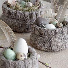 DIY | süße Osterkörbchen selber stricken - mxliving