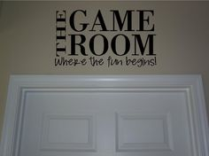 The game room buy 2 get 1 freevinyl lettering by jkvinyldesigns, $9.99