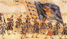 Rulon polski, ok. 1605r. / fragment - Milicja miasta Krakowa/ źródło…
