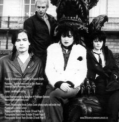 Siouxsie  the Banshees, 1979. Photo shoot for the Join Hands tour programme.