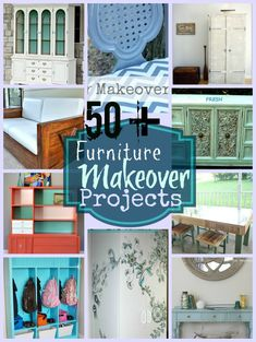 Over 50 Furniture Makeovers DIY!!