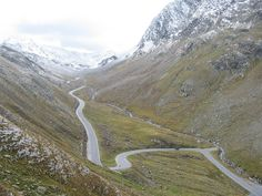 Timmelsjoch Pass Road - a high mountain pass through the Ötztal Alps along the border between Austria and Italy; photo by Dave Hanmer, via Flickr