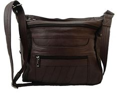 Leather Concealed Carry Crossbody Gun Purse wHolster  Lock >>> Click on the image for additional details.