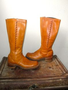 1960's Tall Zip Up Campus Boots Women's 7 1/2 by PacificWonderland, $80.00