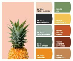 Peachy Pineapple | Color Palette (Wicked Classy Colors)