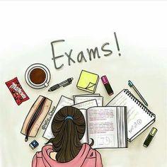 I hate exam study school😣😒👎💔📝📚 on We Heart It Beautiful Girl Drawing, Cute Girl Drawing, Cartoon Girl Images, Cute Cartoon Girl, Girly Drawings, Art Drawings Sketches, Exam Wallpaper, Studying Girl, Sarra Art