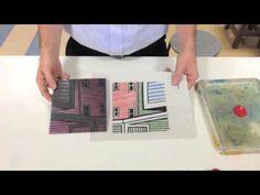 Reductive Printmaking (Linocut 4 colour + white) - YouTube