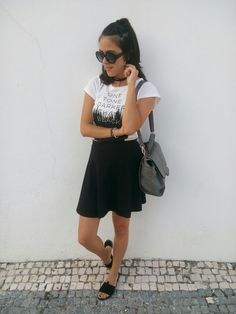 White and black look www.c-lovefashion.blogspot.com