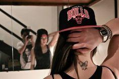 18328149c35 chicago bulls girl with a wonderfull tattoo. Cap GirlSnapbackBaseball HatsSmall  TattoosBeautiful ...