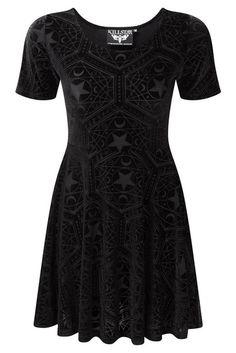 71c9ec3be3e Hell s Boutique - Stargazer Velvet Skater Dress Occult Goth Nugoth Clothing  http   hellsboutique