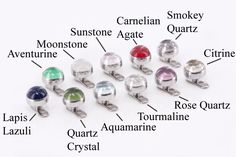 14g - 12g Internally Threaded Real Stone Top - Price Per 1 - Painful Pleasures