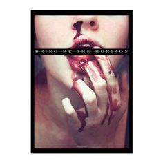 Bring Me The Horizon Blood Lust Fabric Poster - Bring Me the Horizon Blood Lust Fabric Poster. The 30 x 40 poster features the Bring Me the Horizon logo over a blood covered face.