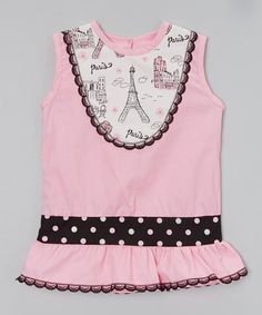 Look what I found on #zulily! Pink Polka Dot Eiffel Tower Top - Infant, Toddler & Girls #zulilyfinds