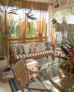 Porch And Terrace, Small Balcony Decor, Estilo Tropical, Ethnic Decor, Porche, Outdoor Furniture Sets, Outdoor Decor, Living Room Interior, My Dream Home