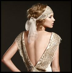 Bringing a 1920s feel to the modern bridal gowns    Dress by Johanna Johnson