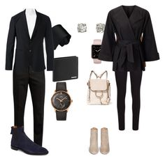 """""""peter and bella work clothes"""" by hyuna-newmoon on Polyvore featuring Vera Wang, Dolce&Gabbana, Yves Saint Laurent, Porsche Design, Givenchy, Longines, Emporio Armani, Aquazzura, rag & bone and Roland Mouret"""