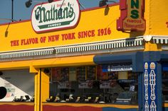 Nathan's at the boardwalk of Coney Island