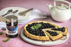 Skvělý recept na: Borůvkový koláč s tvarohem Waffles, Cheesecake, Breakfast, Desserts, Hermes, Food, Asia, Morning Coffee, Tailgate Desserts