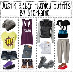 """""""Justin bieber themed outfuts *Requested*"""" by just-more-tips-girls ❤ liked on Polyvore"""