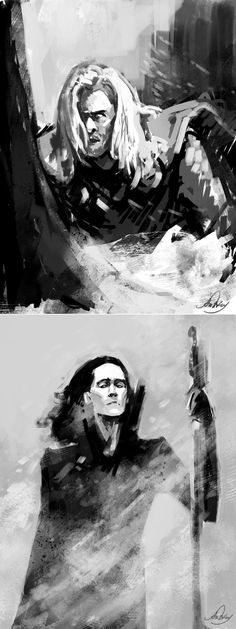Frozen:Thor and Loki by Anstay on deviantART
