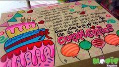Resultado de imagen para carteles para novios de cumpleaños Bf Gifts, Love Gifts, Boyfriend Gifts, Boyfriend Birthday, Mom Birthday, Watermelon Art, Origami, Ideas Para Fiestas, Kawaii