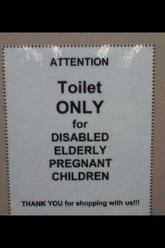 Commas are important. Unless this toilet is actually super exclusive.