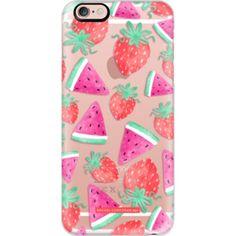 iPhone 6 Plus/6/5/5s/5c Case - Watermelon Strawberry Fruit Summer Food Healthy Pattern Rachillustrates Rachel Corcoran