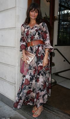 Once a supermodel, always a supermodel: Helena Christensen cut a gorgeous figure in a bohe...