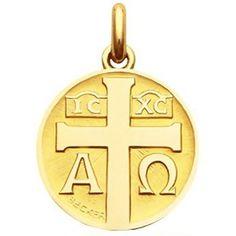 Médaille à la croix  (Or jaune) - Becker - 324 €
