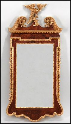 La Barge Federal Style Giltwood Mirror: Lot 131-1106 #labarge #federal #gilt #mirror #antique