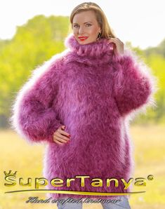 Made to Order by SuperTanya----------  ***********************************************************************************  THICK AND FUZZY HAND KNITTED MOHAIR SWEATER by SuperTanya  ******************************************************* Product Description:  This brand new SuperTanya's hand knitted fluffy mohair creation is handmade from premium class soft and luxurious mohair yarn. The mohair, together with cashmere, alpaca and angora is one of the world's most loved materials for making…