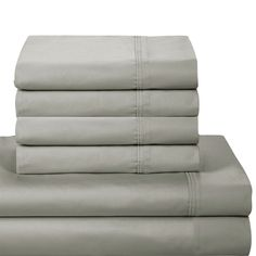 This luxurious sheet set features an extra comfortable 1000 thread count. With numerous color options to choose from, this set is a perfect option for any bedroom.