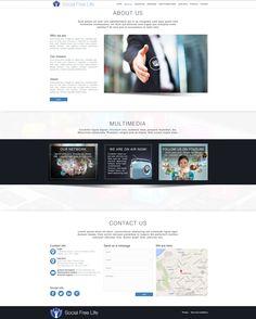 Social Free Life - Onepage pt. 2 : Project Manager - Web Designer