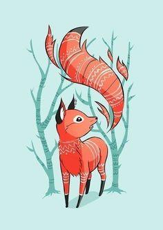 lovely fox art
