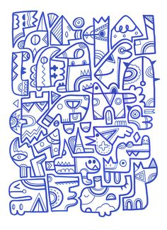 https://flic.kr/p/8ekseA | Capers | Experimental freestyle posca doodle on A3 bristol