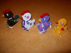 3D Chicken hama perler by mes-petites-creations-13