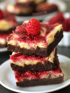 Raspberry Cheesecake Brownies made healthier. Adapted from the famous Baked brownies! Plus an awesome #Berlin #giveaway