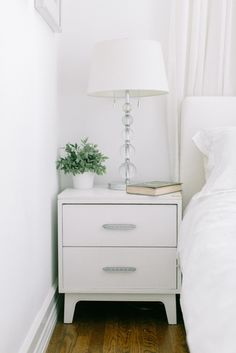 All white: http://www.stylemepretty.com/living/2015/03/16/25-nightstands-worthy-of-sleeping-next-to/