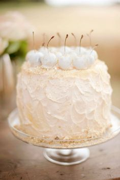 Wow Peach and cherry cake inspiration by Tali Photography - Creative Cake Making Pretty Cakes, Beautiful Cakes, Amazing Cakes, Cherry Cake, Rustic Cake, Wedding Cake Inspiration, Wedding Ideas, Little Cakes, Dessert