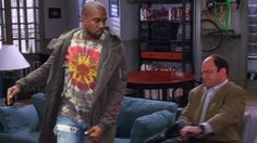 Kanye West rapping over the Seinfeld theme is a whirlwind of narcissism Great Job Internet!: Kanye West rapping over the Seinfeld theme is a whirlwind of narcissism            It was only a matter of time before the most self-obsessed rapper of his generation was drawn into the vortex of self-absorption that is   Seinfeld  . Over the weekend Kanye West not only made his triumphant return to   Saturday Night Live   but also debuted his long-delayed highly anticipated   The Life Of Pablo   on…