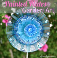 Infarrantly Creative dollar store plate to garden art...my suspicion is that while I could go to the dollar store to get the supplies...it would still require some artistic talent...