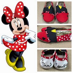 Minnie Mouse Inspired Shoes minnie minnie by PixieInspirations
