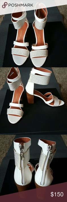 """Rebecca Minkoff """"Shawn"""" ankle strap sandal NWT  Leather upper and sole  Concealed Back zip Precise rows of petite, polished studs add an edgy feel to his beautiful dandal. Rebecca Minkoff Shoes Sandals"""