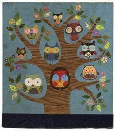 owl tree illustration