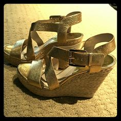 Too many shoea Gold wedges MICHAEL Michael Kors Shoes Wedges