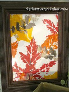 Polka Dots and Paisley: Fall Decorating