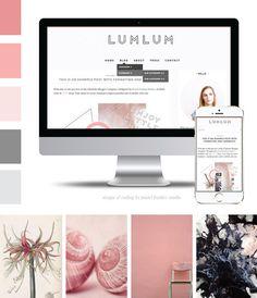 Lumlum Responsive Blogger Template by PastelFeatherStudio on Etsy