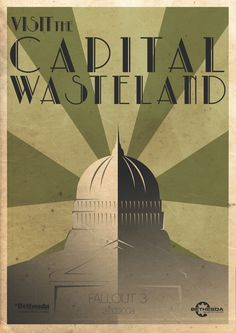 Fallout 3 Poster selection by Callum Graham, via Behance